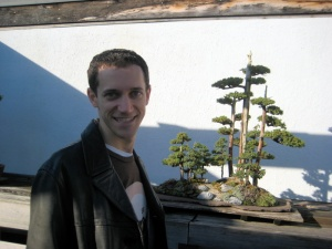 Josh and a bonsai